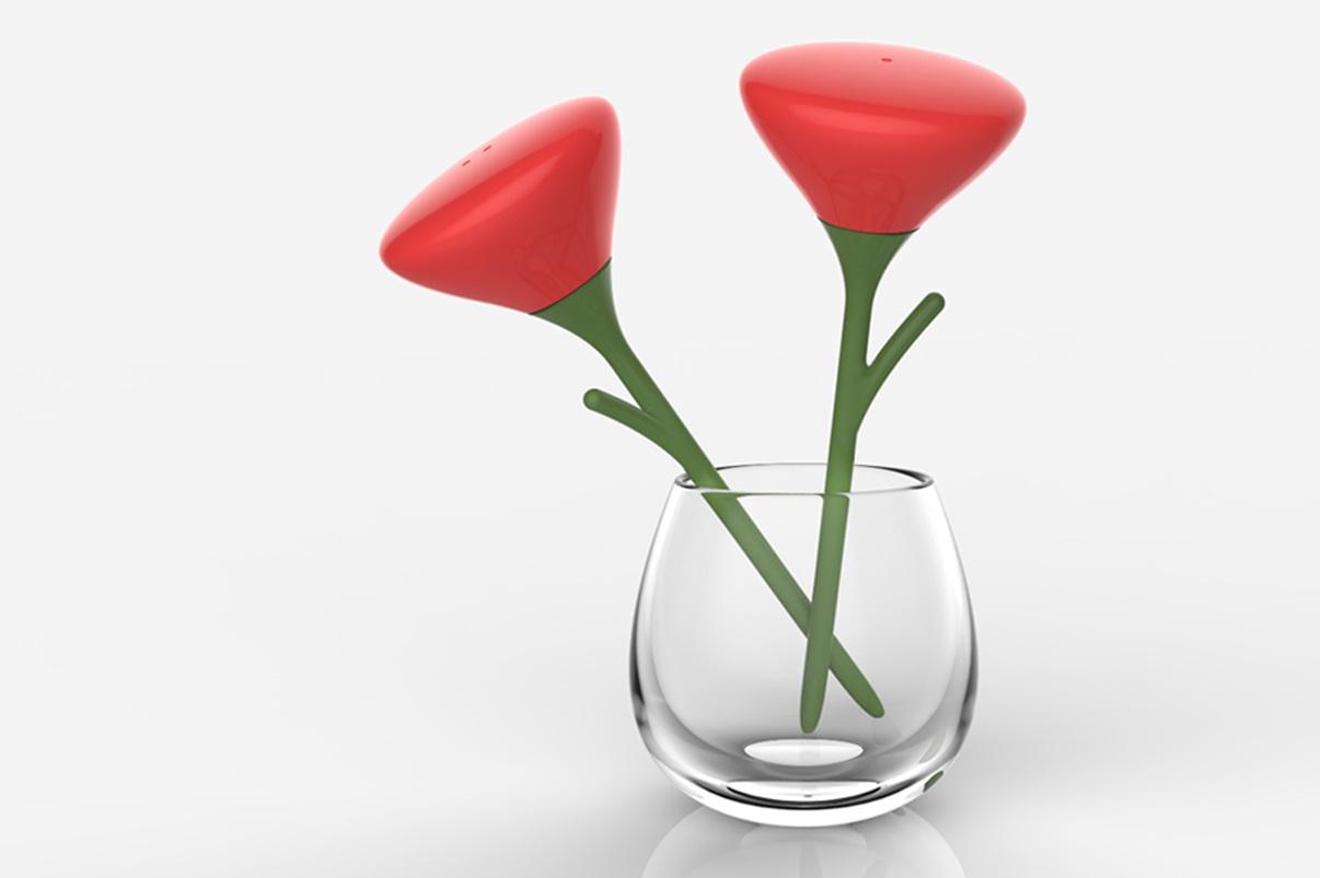 alessi in love  mean design studio - salt and pepper shaker